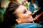 No dia do meu casamento, com os cabelos escovados =/